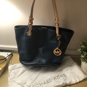Michael Kors Navy Tote bag, Leather.